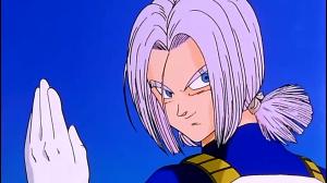 Após o treinamento, Trunks passa a se vestir no traje de seu pai, simbolo da união deles após o treinamento. Ele usará essa roupa até o fim do arco.