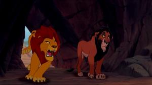 Já repararam no quanto Scar é muito mais magro do que Mufasa. Bom sinal do tipo diferente de vida que os dois levam embora sejam da mesma linhagem.